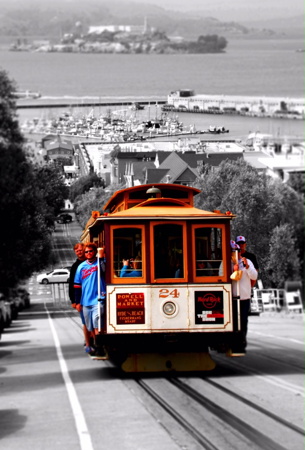 Cable Car und Alcatraz SF